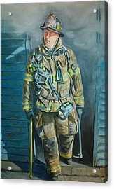 Captain Harris Acrylic Print by Paul Walsh