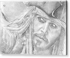 Captain Jack Sparrow Acrylic Print