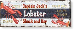 Captain Jack's Lobster Shack Acrylic Print by Debbie DeWitt