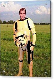 Captain James T Kirk Stormtrooper Acrylic Print by Paul Van Scott
