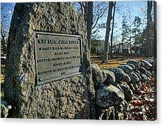 Captain John Locke Monument  Acrylic Print