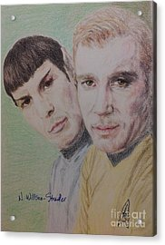 Captain Kirk And First Officer Spock Acrylic Print