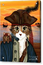 Captain Leo - Pirate Cat And Rat Acrylic Print