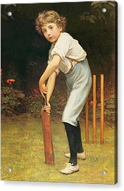 Captain Of The Eleven Acrylic Print by Philip Hermogenes Calderon