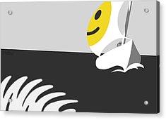 Captain Smiley Acrylic Print by Tom Dickson