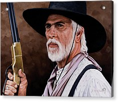 Captain Woodrow F Call Acrylic Print by Rick McKinney