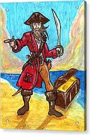 Captain's Treasure Acrylic Print by William Depaula