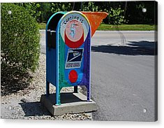 Acrylic Print featuring the photograph Captiva Island Mailbox- Horizontal by Michiale Schneider