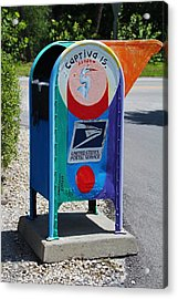 Acrylic Print featuring the photograph Captiva Island Mailbox- Vertical by Michiale Schneider