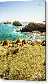 Captivating Coastal Cliff Acrylic Print