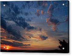 Captree Sunset Acrylic Print by Christopher Kirby
