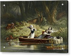Capture Of The Daughters Of Daniel Boone And Richard Callaway By The Indians Acrylic Print