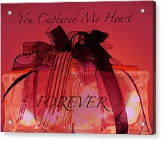 Captured My Heart Card Acrylic Print