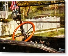 Car - Back To The Old Days Acrylic Print by Mike Savad