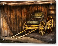 Car - Wagon - The Old Wagon Acrylic Print by Mike Savad