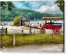 Car - Wagon - Traveling In Style Acrylic Print by Mike Savad