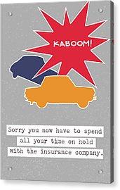Car Accident Card- Art By Linda Woods Acrylic Print