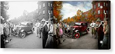 Car - Accident - Late For Tee Time 1932 - Side By Side Acrylic Print by Mike Savad