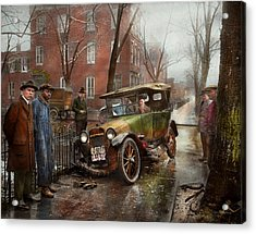 Car Accident - Watch For Ice 1921 Acrylic Print