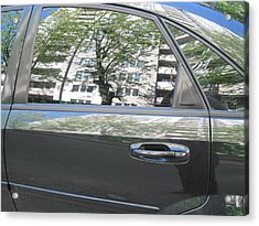 Car And Reflection Acrylic Print by Kostyantyn Serodkin