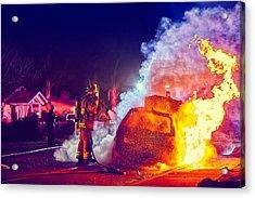 Car Arson  Acrylic Print