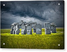 Car Henge In Alliance Nebraska After England's Stonehenge Acrylic Print