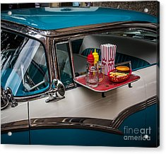 Car Hop Acrylic Print by Perry Webster