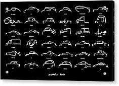 Car Icons Black Acrylic Print