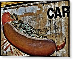 Car In Black Acrylic Print by Curtis Staiger