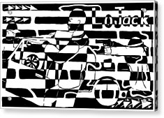 Car-jacking Maze For Lojack Advert Acrylic Print by Yonatan Frimer Maze Artist