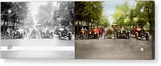 Car - Race - Hold On To Your Hats 1915 - Side By Side Acrylic Print
