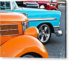 Car Show Beauties Acrylic Print by Marion McCristall