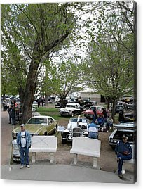 Acrylic Print featuring the photograph Car Show In Deming N M by Jack Pumphrey