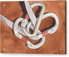 Carabiners Acrylic Print by Ken Powers