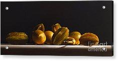 Carambolas,lemons And Banana Acrylic Print by Larry Preston
