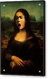 Caravaggio's Mona Acrylic Print by Gravityx9 Designs