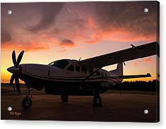 Caravan On The Ramp In The Sunset Acrylic Print