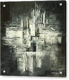 Acrylic Print featuring the painting Carbon Concerto by Tatiana Iliina