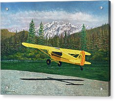 Carbon Cub Riverbank Takeoff Acrylic Print