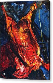 Carcass Of Beef Acrylic Print by Pg Reproductions