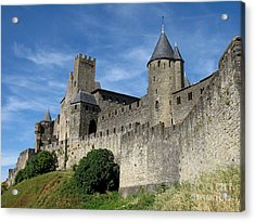 Acrylic Print featuring the photograph Carcassonne France by Jacqi Elmslie