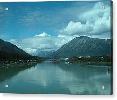 Carcross - So Much Blue Acrylic Print by William Thomas