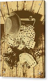Card Games And Vintage Bets Acrylic Print by Jorgo Photography - Wall Art Gallery