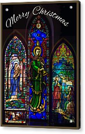 Card Merry Christmas Acrylic Print by Robert G Kernodle