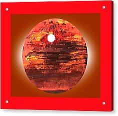 Cardboard Sunset Acrylic Print by Gabe Art Inc