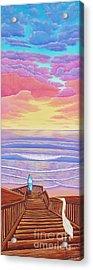 Cardiff Sunset Acrylic Print