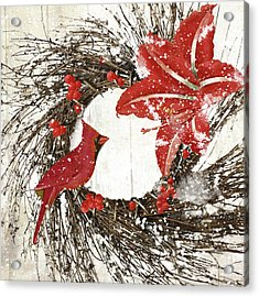Cardinal Holiday I Acrylic Print