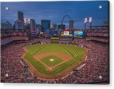 Cardinal Nation Busch Stadium St. Louis Cardinals Twilight 2015 Acrylic Print