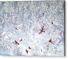 Cardinal Zen Acrylic Print by Leda Miller