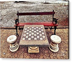 Care For A Game Of Chess? Acrylic Print